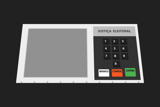 Electronic machine Brazilian voting urn illustration