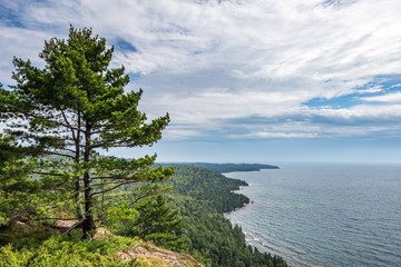 View of Lake Superior From Cliffs