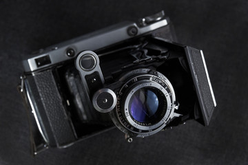 Old film camera with a frame size of 6x9 cm