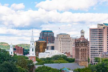 New Haven, Connecticut City Skyline