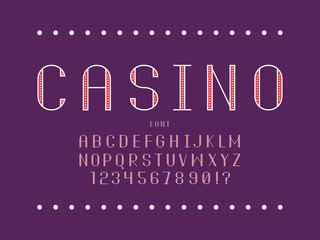Casino font. Vector alphabet