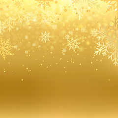 Winter background with snowflakes for Christmas or New Year. Vector.
