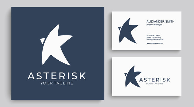 Star logo vector. Universal abstract logo with a star symbol for any business. Star sign - a leader, success and power.