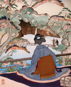 Japanese culture in illustrations