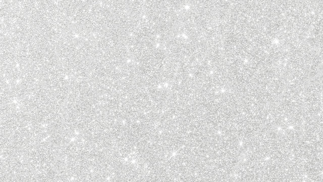 Silver glitter background texture white sparkling shiny wrapping paper for Christmas holiday seasonal wallpaper decoration, greeting and wedding invitation card design element