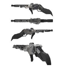 Futuristic metal sci-fi gun