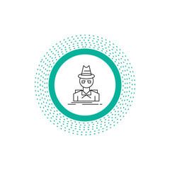 Detective, hacker, incognito, spy, thief Line Icon. Vector isolated illustration