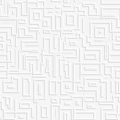 Abstract white labyrinth background. Seamless pattern.