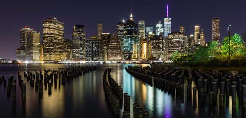 NYC Skyline, nightlife, panoramic