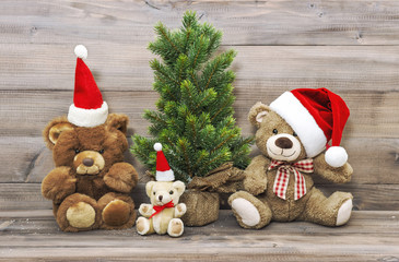 Christmas decoration vintage toys teddy bear