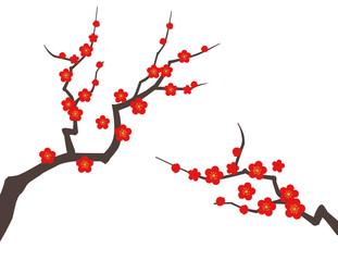 梅の木 背景素材