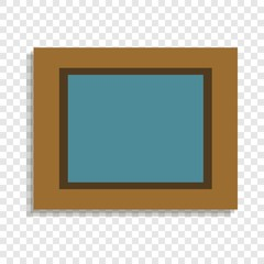Picture in wood frame icon. Cartoon of picture in wood frame vector icon for web design