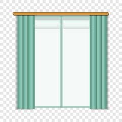 Living room window icon. Cartoon of living room window vector icon for web design