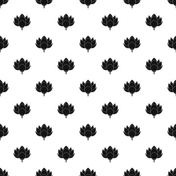 Lotus flower pattern seamless vector repeat geometric for any web design