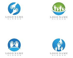 Hand Help Logo and symbol template