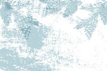 Chic winter pastel gold print pine braches botany design