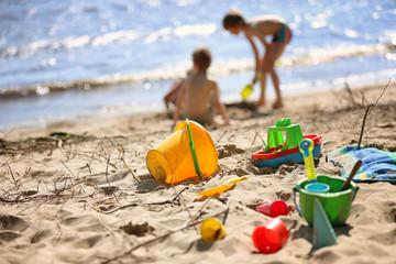 toys at the beach