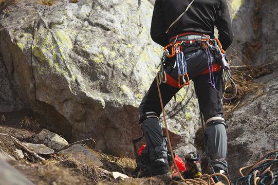Climbing gear and equipment.