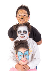 Kids with animal face-paint