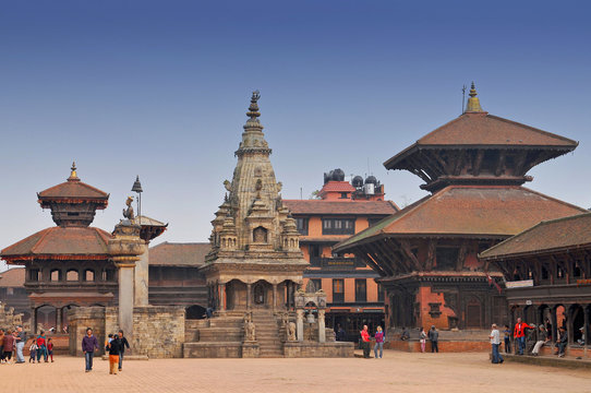 Durbar Square in Bhaktapur, Nepal.