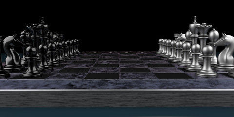 Modernes Schachbrett