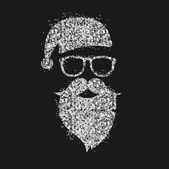 Weihnachtsmann silber glitzernde funkelnde Sterne Weihnachten edel