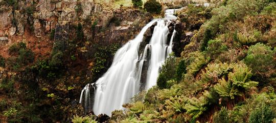 Beautiful Waratah Falls in Waratah, Tasmania.