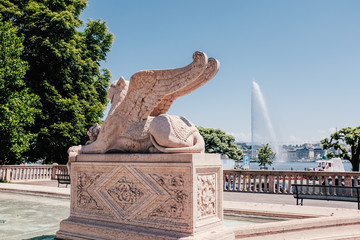 Sphinx statue in Geneva