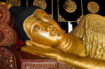 Sleeping Buddha statue in Thailand.