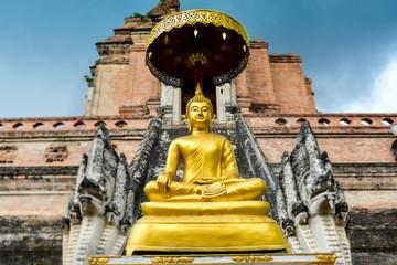 Golden Buddha statue in Thailand.