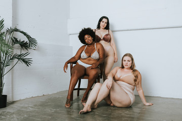 Women with confidence and body positivity