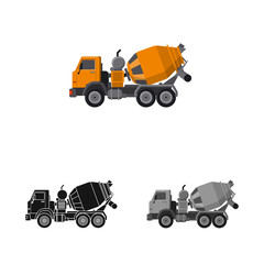 Vector illustration of build and construction icon. Collection of build and machinery stock symbol for web.