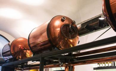 copper tank in modern brewery
