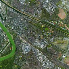 Luftbild Mannheim Oststadt