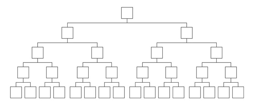 Fighting tournament bracket. Empty contest chart template.
