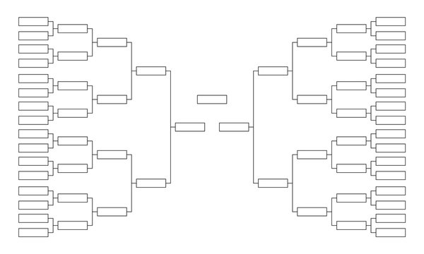 Tournament bracket. Empty template for competition charts.