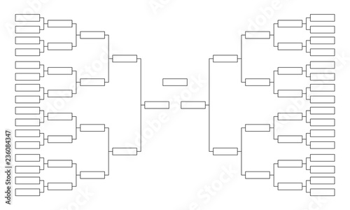 Tournament bracket  Empty template for competition charts