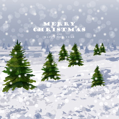 Winter snowing background Vector. Graphic style illustrations