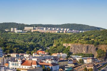 .Panoramic view of the Czech city of Usti nad Labem. Bohemia. Czech Republic.