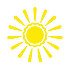 Sun icon vector isolated