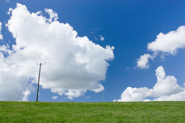 Big sky on South Downs, Telscombe, East Sussex, UK