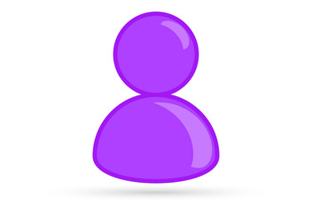 purple male gay bisexual profile picture, silhouette profile avatar icon symbol