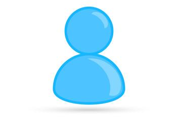 blue male profile picture, silhouette profile avatar icon symbol