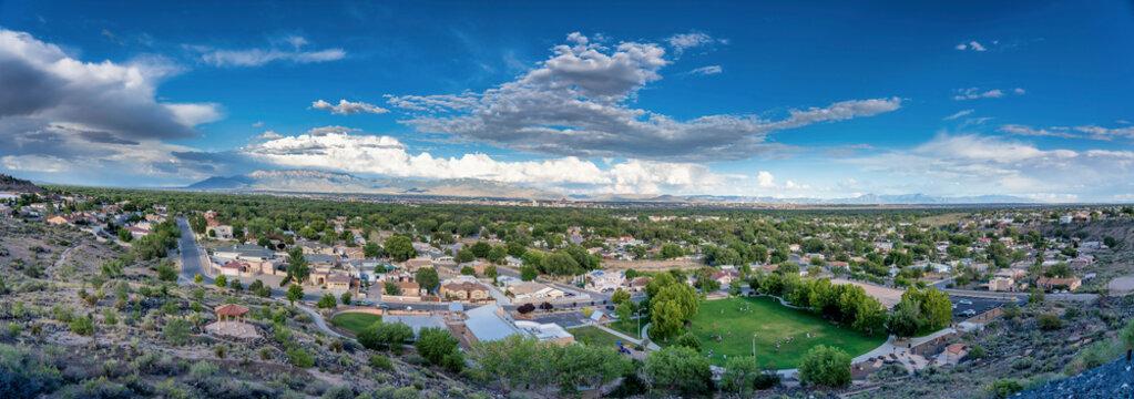 Pano above Albuquerque, NM