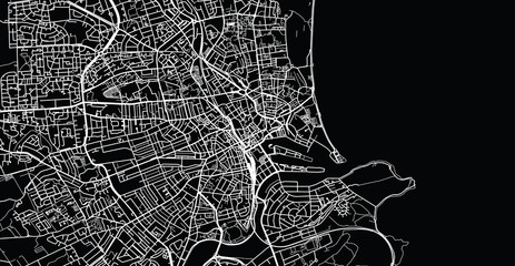Urban vector city map of Aberdeen, Scotland