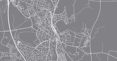 Urban vector city map of Stirling, Scotland