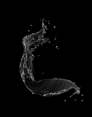 water splash isolated.