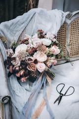 Wedding flowers. Wedding bouquet.
