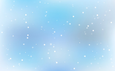 Winter festive blurred background with gradients with snowflakes. Christmas design background. vector illustration