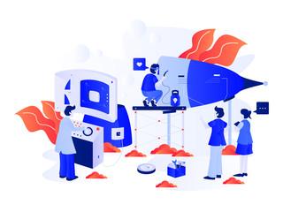 Startup Business Illustration. Modern Flat design concept. Vector Design